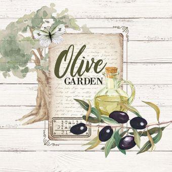 Ambiente Servietten - Olivengarten