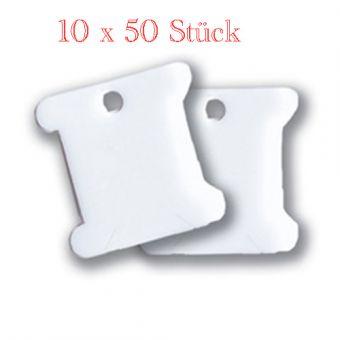 10 er Pack - 10 x 50 Bobbins - Garnwickler XXL Pack (500 Stück)