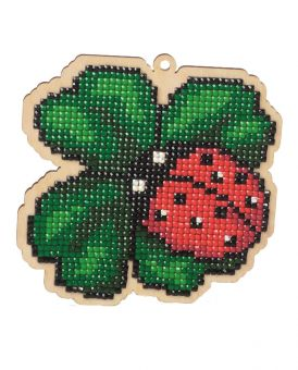 Diamond Painting Wizardi Wood Charms - LADYBUG