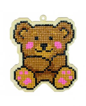 Diamond Painting Wizardi Wood Charms - TEDDY