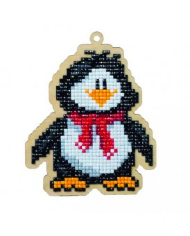 Diamond Painting Wizardi Wood Charms - PENGUIN WILLIE