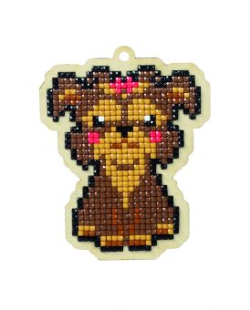 Diamond Painting Wizardi Wood Charms - DOG LADY