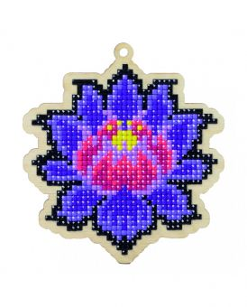 Diamond Painting Wizardi Wood Charms - MAGICAL LOTUS