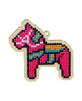 Diamond Painting Wizardi Wood Charms - TOY HORSE