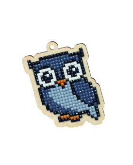 Diamond Painting Wizardi Wood Charms - GREY OWL