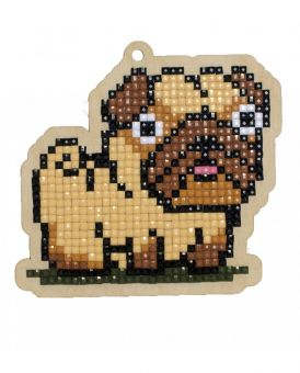 Diamond Painting Wizardi Wood Charms - PUG