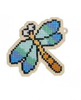 Diamond Painting Wizardi Wood Charms - DRAGONFLY