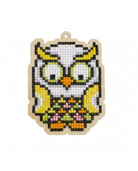 Diamond Painting Wizardi Wood Charms - TROPICAL OWL