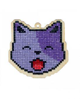 Diamond Painting Wizardi Wood Charms - CAT LUCKY