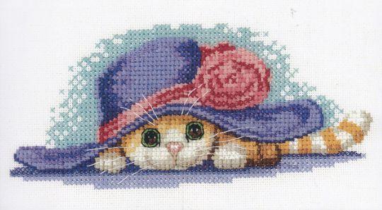 Heritage Stitchcraft - Cat in hat