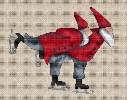 ICS Designs - Schlittschuh-Weihnachtsmänner