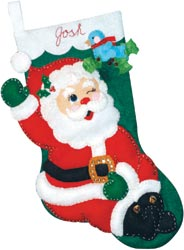 Design Works - Winking Santa Stocking