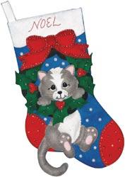 Design Works - Grey Cat Stocking