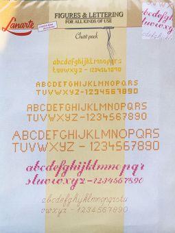 Super SALE Lanarte - Stickvorlagen mit Zahlen und Alphabet