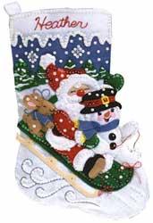 Super SALE Janlynn - Christmas Fun Stocking Filzpackung
