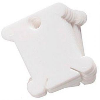 Super SALE Bobbins Garnwickelkarten Kunststoff mit Beschriftungsfeld 50 Stück
