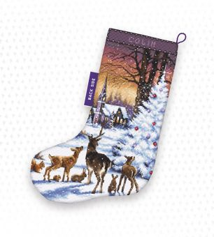 Letistitch by Luca-S - CHRISTMAS WOOD STOCKING