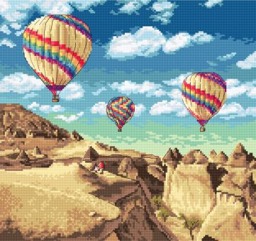 Letistitch by Luca-S - BALLOONS OVER GRAND CANYON