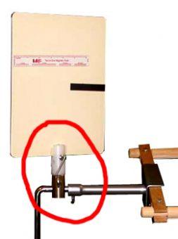 Vorlagenhalter passend zum Metall-Stickständer LWSG