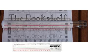 Reihenzähler mit 2-fach Vergrößerung