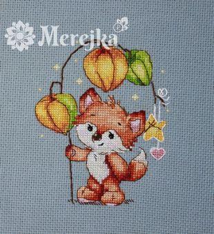 Merejka - MINI KIT WITH WOODEN FRAME - FOX