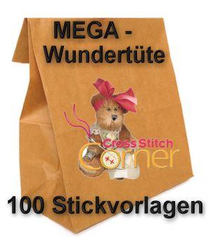 Mega SALE - Wundertüte mit 100 verschiedenen Stickvorlagen!