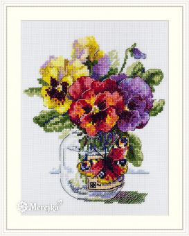 Merejka - PANSIES AND BUTTERFLY