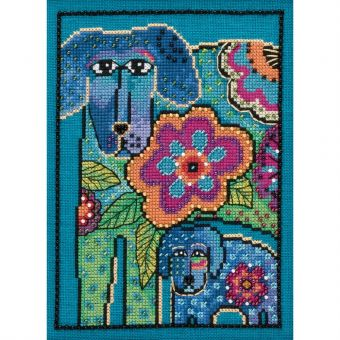 Mill Hill - Laurel Burch Dogs! Petunia And Rose