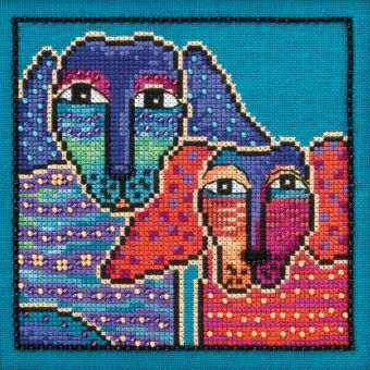 Mill Hill - Laurel Burch Dogs! Ol' Blue And Red