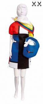 Dress Your Doll - Making Couture - Kleider Set - Twiggy Mondriaan