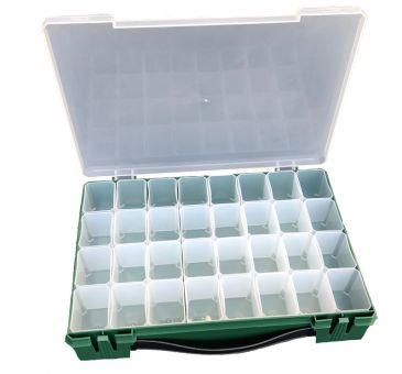 Super SALE Geniale XXL Sortierbox, Aufbewahrungsbox und Fächerbox mit herausnehmbaren 32 Fächern 1 Box