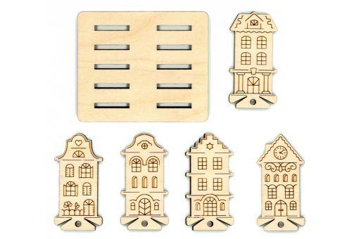 MP Studia - SPOOL SET HOUSES (10 PCS) + HOLDER