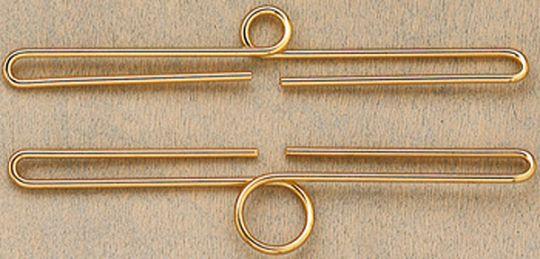 Dekobügel - Oslo 7 cm goldfraben 1 Paar (2 Stück)