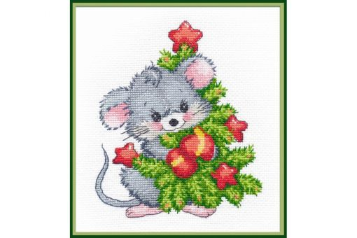 Oven - MOUSE WITH CHRISTMAS TREE