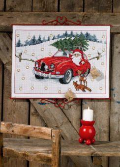 Permin of Copenhagen - Adventskalender Weihnachtsmann Auto