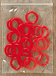 24 rings for Advent Calendar color: red