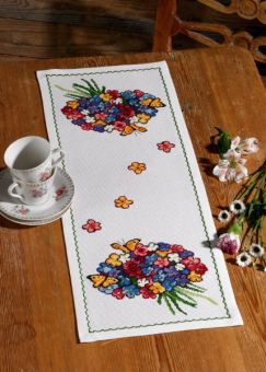 Permin Of Copenhagen - Tischläufer Blumenstrauß