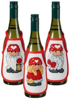 Permin Of Copenhagen - 78-8217 weihnachtsliche Flaschenschürzen