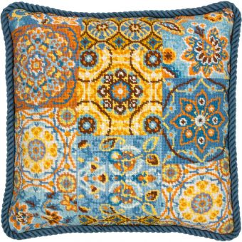 Dimensions Needlepoint - PATTERNS ON BLUE