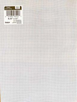 Plastic Canvas, white 14 Count