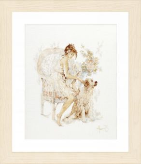 Lanarte - GIRL IN CHAIR WITH DOG
