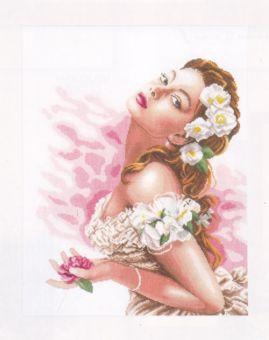 Lanarte - Lady of the Camellias 14ct Aida