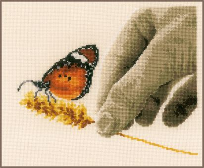 Vervaco - COUNTED CROSS STITCH KIT HAND & BUTTERFLY