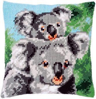 Vervaco Kreuzstichkissen - Koala mit Baby