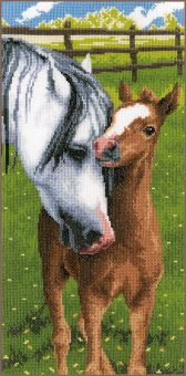 Vervaco - COUNTED CROSS STITCH KIT HORSE & FOAL