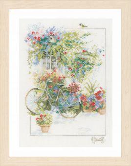 Lanarte - Blumenpracht mit Fahrrad