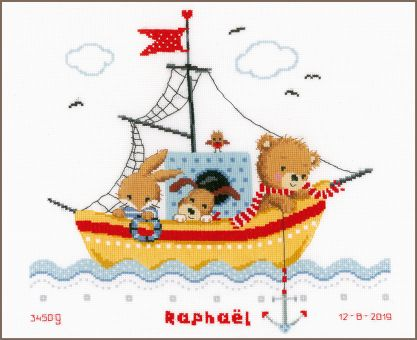 Vervaco - COUNTED CROSS STITCH KIT BOAT SAILING