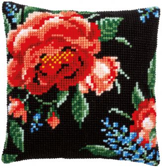 Vervaco CROSS STITCH CUSHION KIT ROSES 2