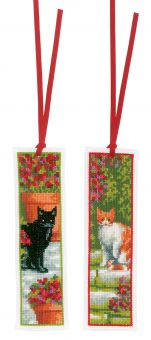 Vervaco - BOOKMARK KIT CATS SET OF 2