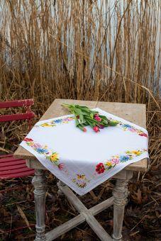 Vervaco - Tischdecke Blumen